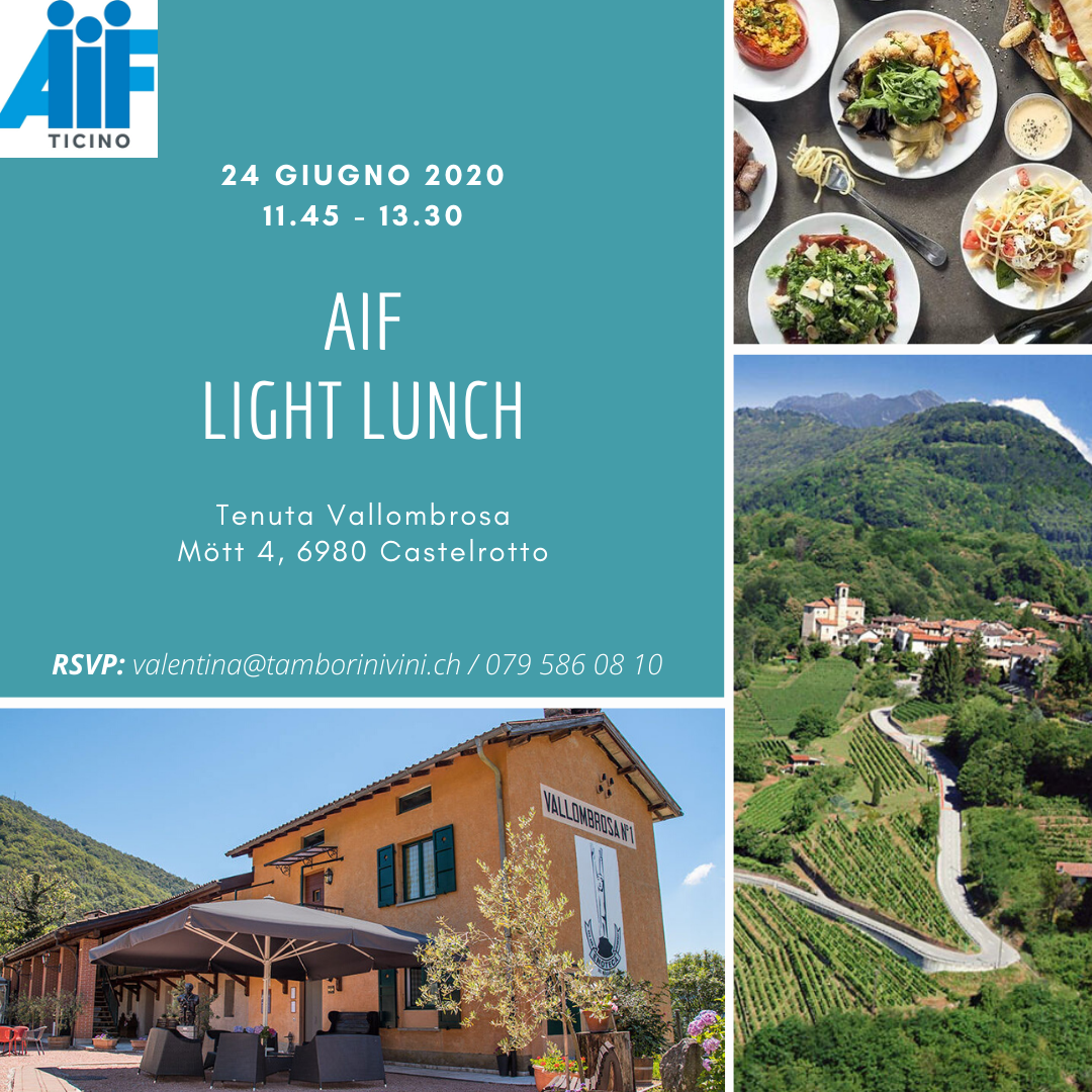 Il Gruppo Giovani invita ad un Light Lunch per i soci AIF
